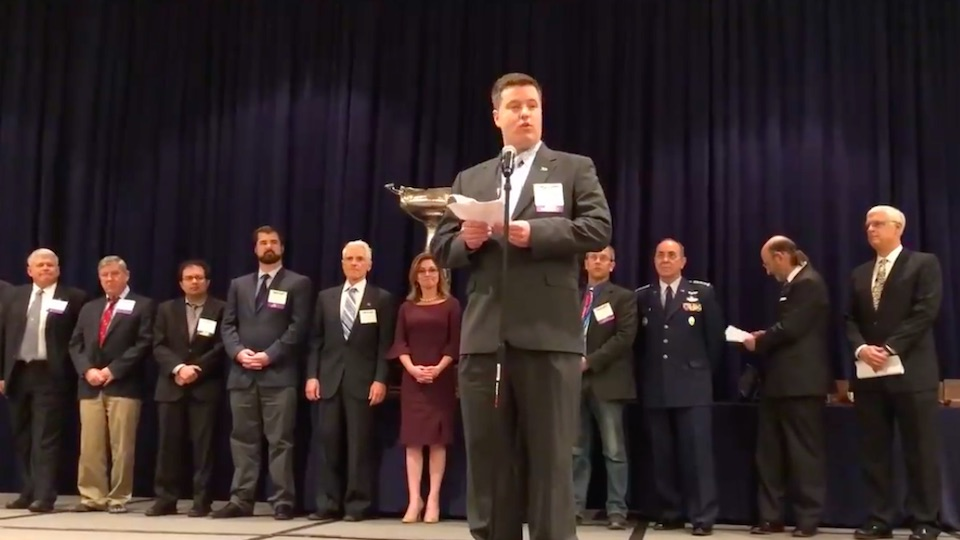 Operation Airdrop accepts NAA Teamwork Award